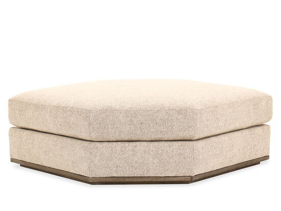 "Casual 42"" Diamond Ottoman in Beige"