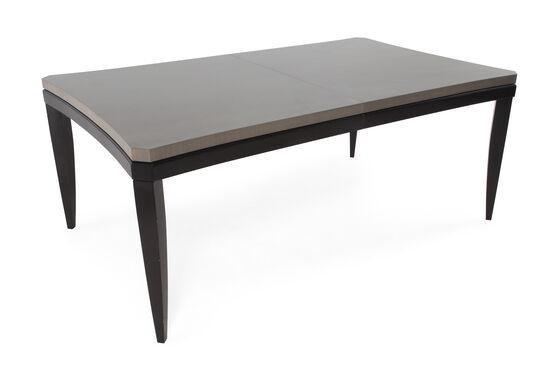 "Contemporary 74"" Solid Rubberwood Slab Top Table in Dark Black"