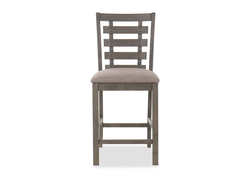 Traditional Trackback Barstool in Taupe