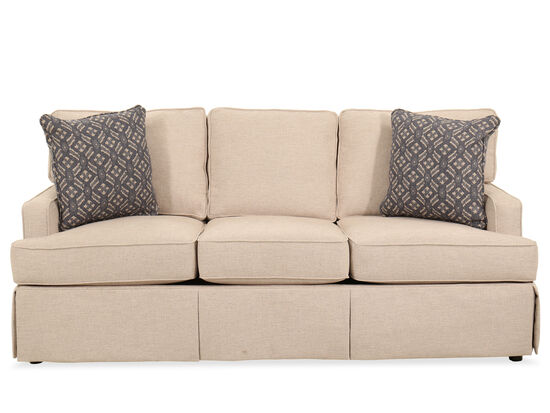 """Traditional 78"""" Sofa in Beige"""