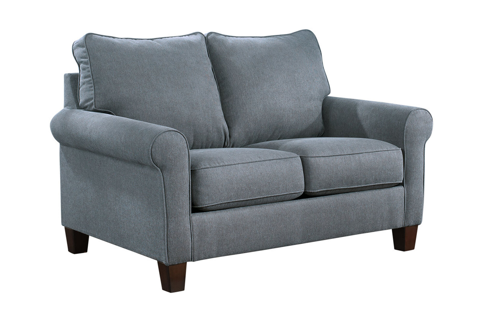 Contemporary 58 Quot Twin Sleeper Loveseat In Denim Blue