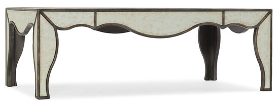 Arabella Mirrored Cocktail Table in Silver