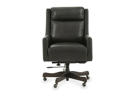 Leather Height Adjustable Office Chair in Black