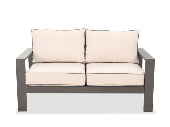 Aluminum Patio Loveseat in Gray