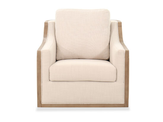 Casual Swivel Accent Chair in Beige
