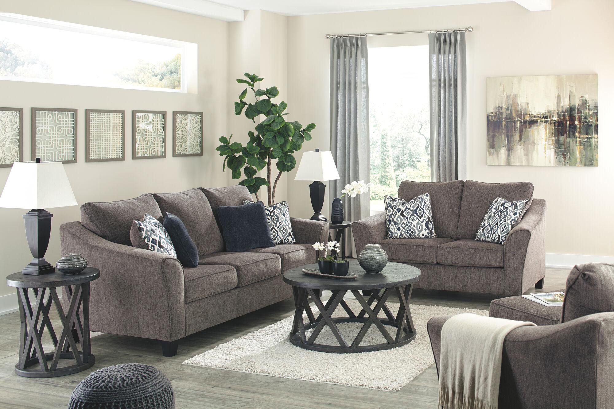 Nemoli Slate Sofa & Loveseat  Mathis Brothers Furniture