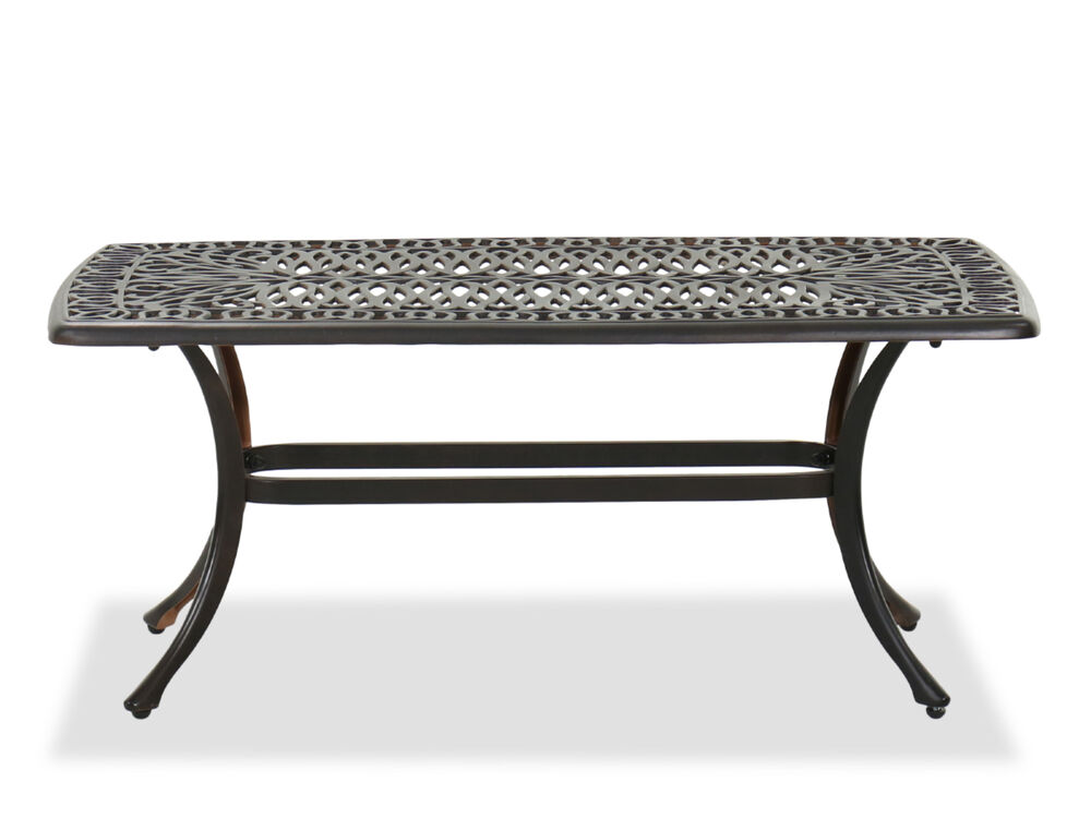 Contemporary Patio Rectangular Coffee Table In Black Mathis Brothers Furniture