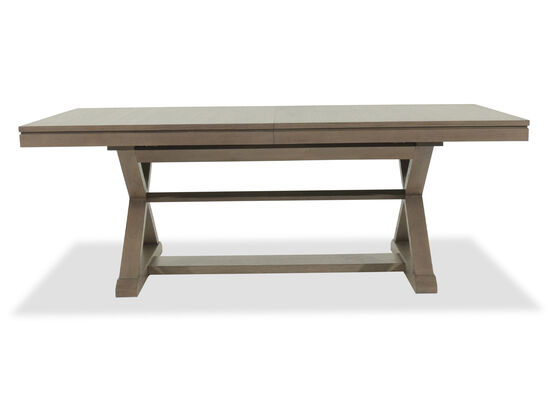 "84"" to 108"" Rectangular Trestle Table in Relaxed Brown"