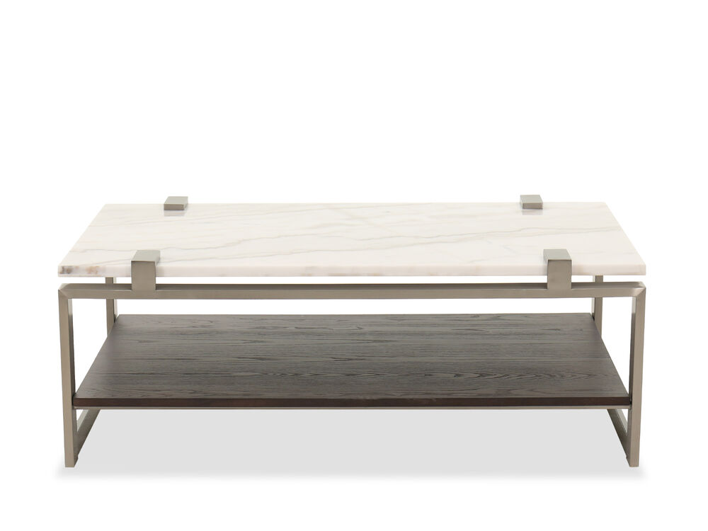 Marble Top Cocktail Table In Almond Mathis Brothers Furniture