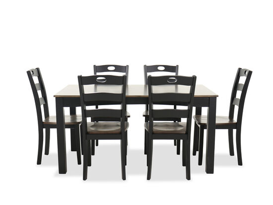 Seven-Piece Cottage Dining Set in Dark Brown