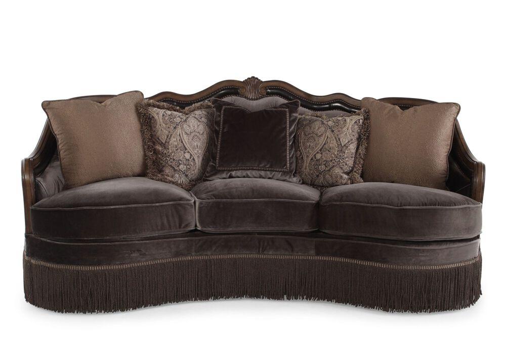 Images 90 Velvet Demilune Sofa