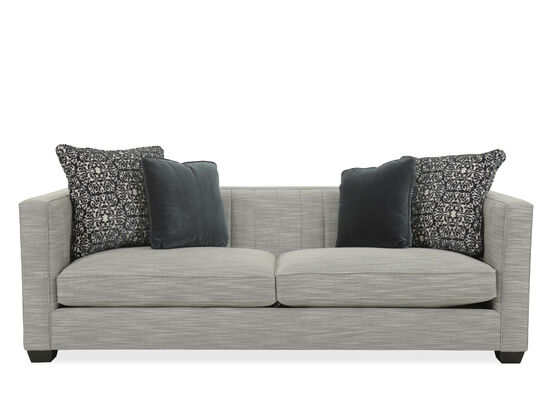 "Casual Quilted 91"" Sofa in Gray"