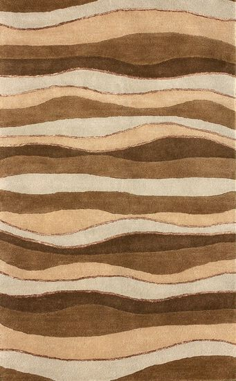 "Lb Rugs|Br-12  (br)|Hand Tufted Wool 2'-6"" X 8'