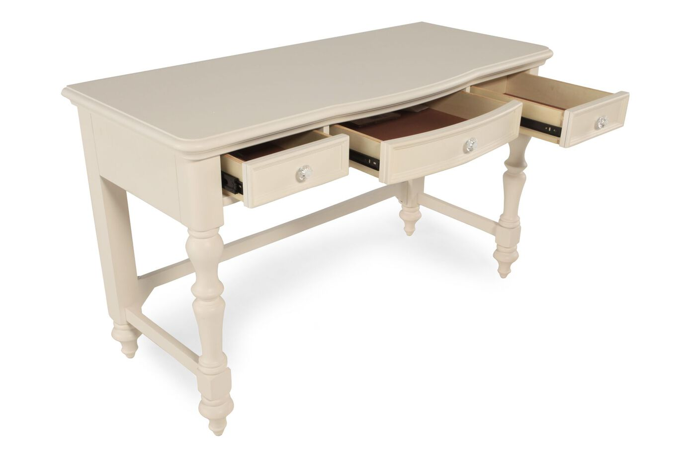 Three Drawer Traditional Desk Nbsp In Light White