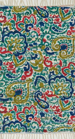 "Transitional 3'-6""x5'-6"" Rug in Blue/Multi"