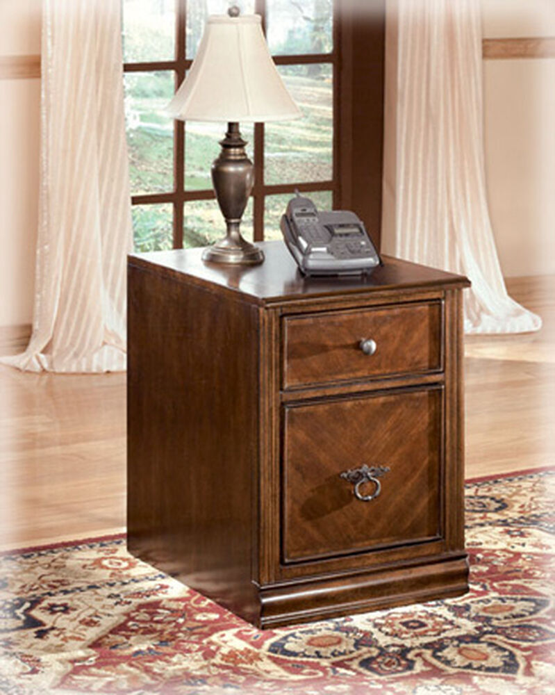 Two-Drawer Traditional File Cabinet in Medium Brown