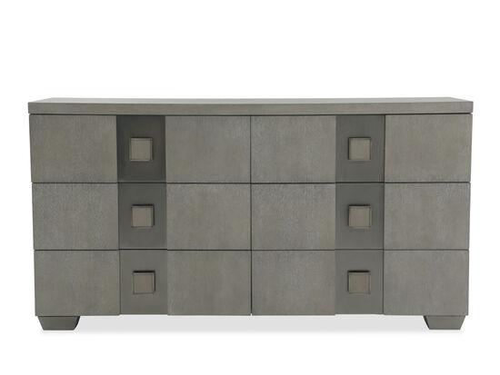 """36"""" Modern Six-Drawer Dresser in Gray"""