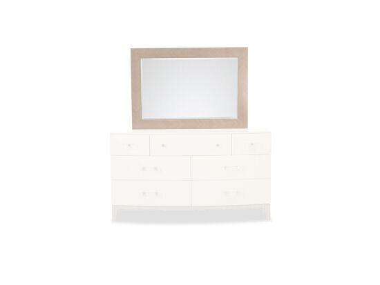 """36"""" Contemporary Bedroom Mirror in Linear Gray"""