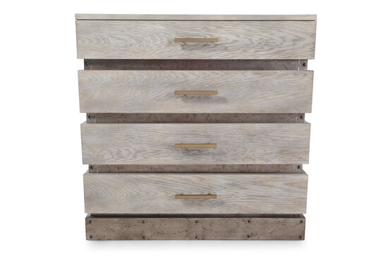 "32"" Four-Drawer Transitional Chest in Light Gray"
