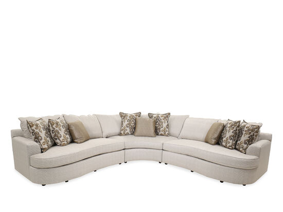 Three-Piece Casual Sectional in Gray