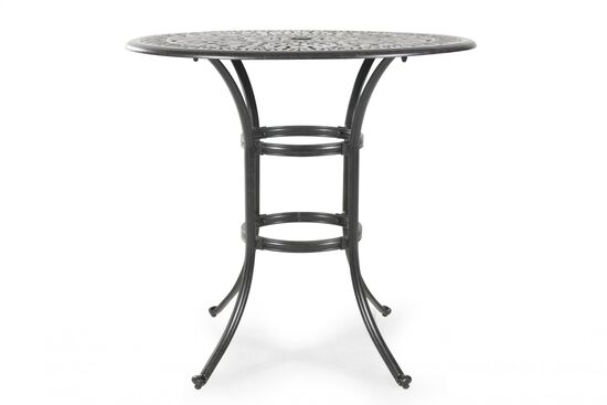 Lattice Patterned Aluminum Round Bar Table in Black