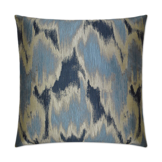 Watermark Pillow in Navy Blue
