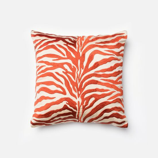 "18""x18"" Pillow Cover Only in Rust/Beige"