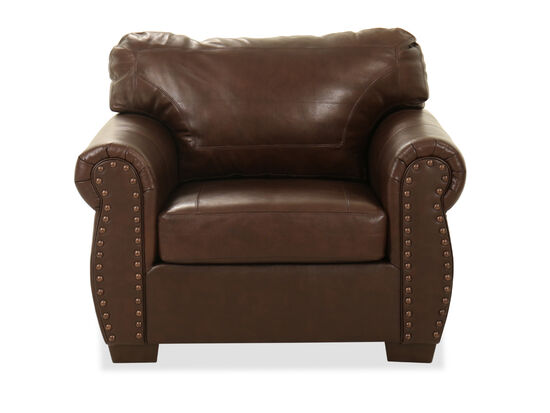 """Leather 37"""" Chair in Brown"""