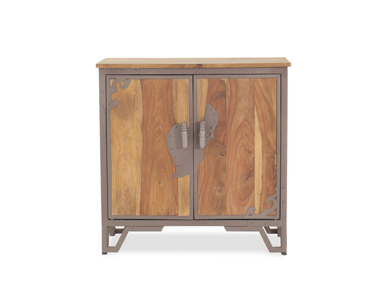 28'' Two-Door Traditional Accent Chest in Brown