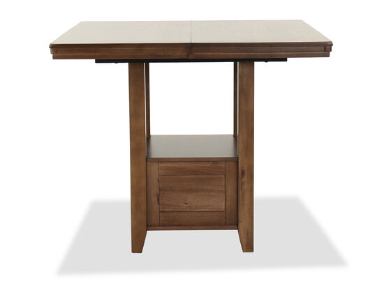 "Casual 60"" Extendable Counter Table in Dark Brown"