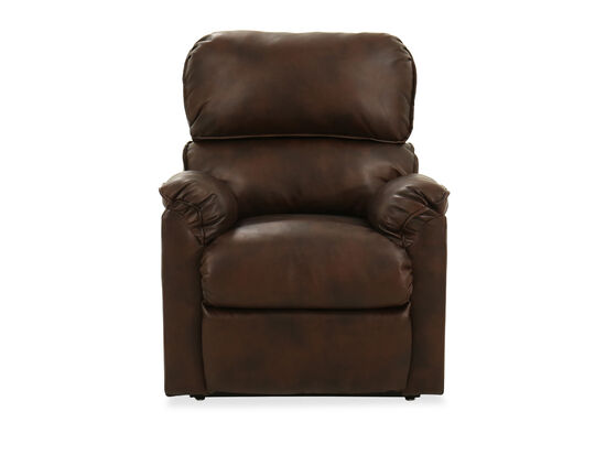 "37"" Leather Power Lift Recliner in Brown"