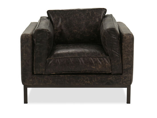 Contemporary Leather Chair in Brown