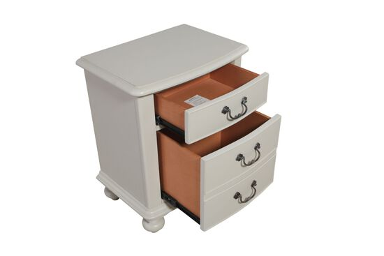 Country Three-Drawer Youth Nightstand in Morning Mist
