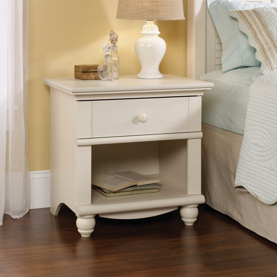 """26"""" Traditional Nightstandin Antiqued White"""