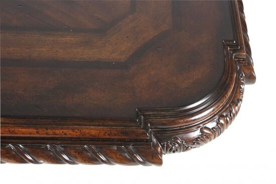 """Traditional 130"""" Rectangular Dining Table in Port"""