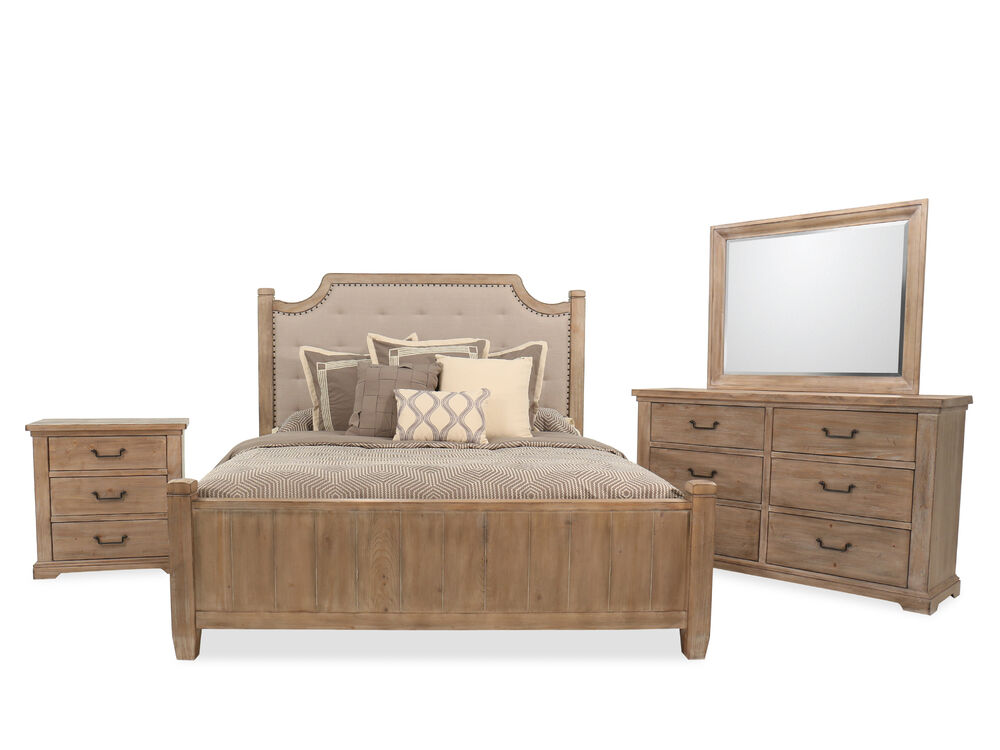 four-piece casual bed set in cypress | mathis brothers furniture