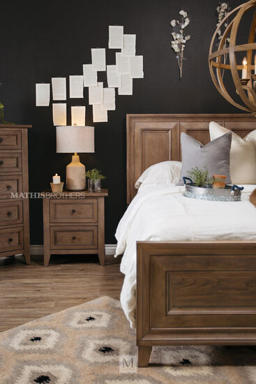 "28"" Contemporary Two-Drawer Nightstand in Dark Brown"