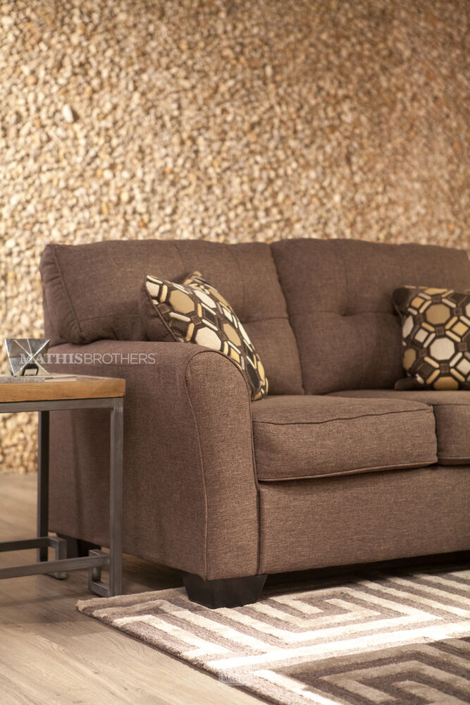 Button Tufted Contemporary 61 Loveseat In Slate Mathis Brothers Furniture