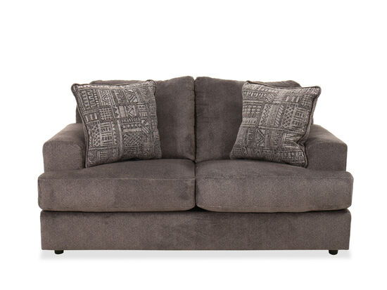 """Contemporary 71"""" Loveseat in Ash"""