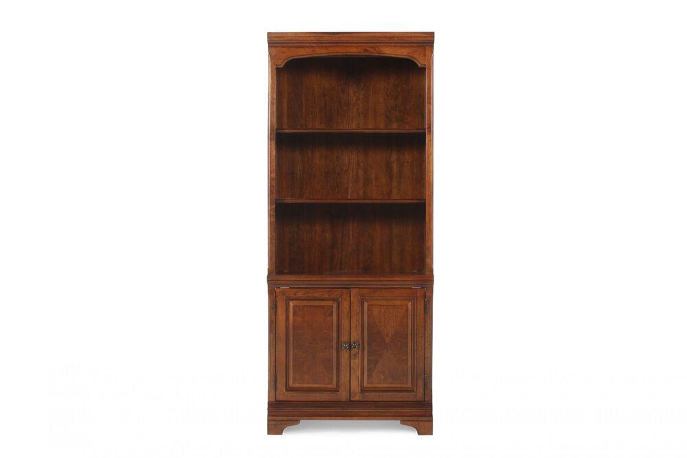 Two-Door Casual Bookcase in Brown