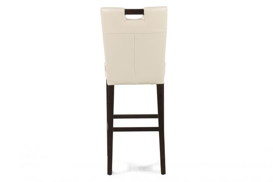 """Contemporary 41"""" Bar Stool in White"""