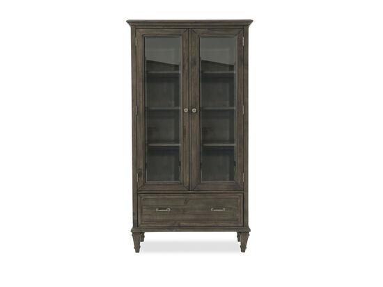 Two-Door Formal Bookcase in Dark Gray