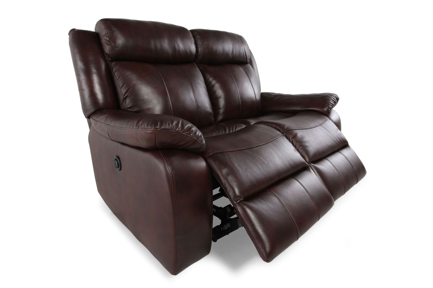 Power Reclining Leather 65 Quot Loveseat In Brown Mathis