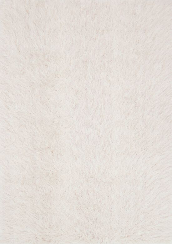 """Shags 3'-0""""x5'-0"""" Rug in Ivory/Lilac"""
