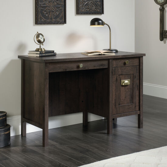 "47.5"" Contemporary Two-Drawer Desk in Coffee Oak"