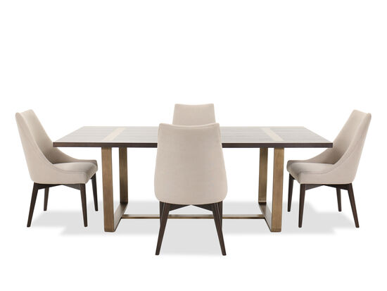 Five-Piece Modern Dining Set in Barton