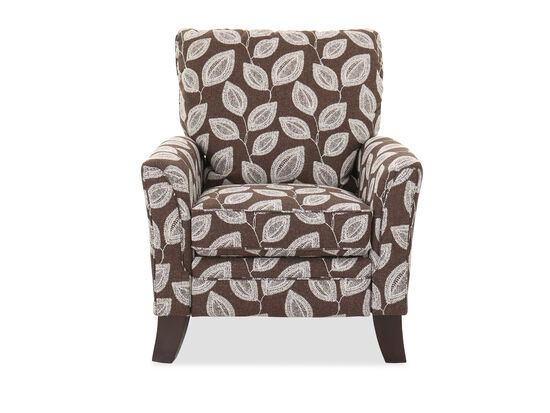 Leaf-Patterned Pressback Recliner in Coffee