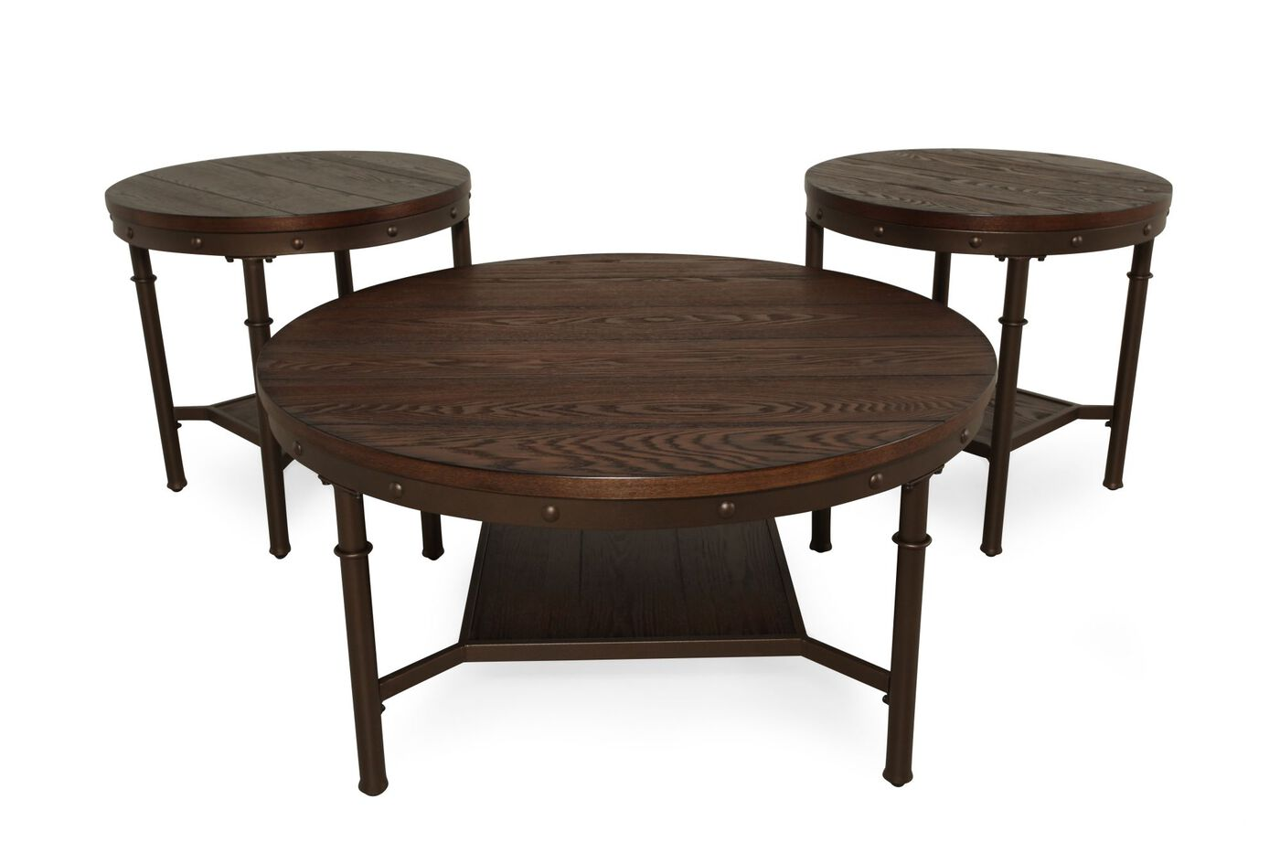 Ashley sandling coffee table set mathis brothers furniture ashley sandling coffee table set geotapseo Images