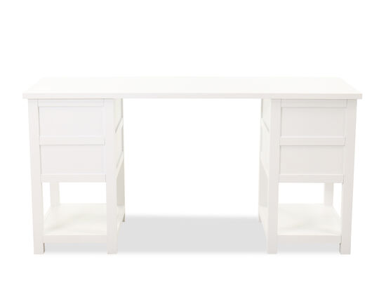 Casual Rectangular Junior Executive Youth Desk in White