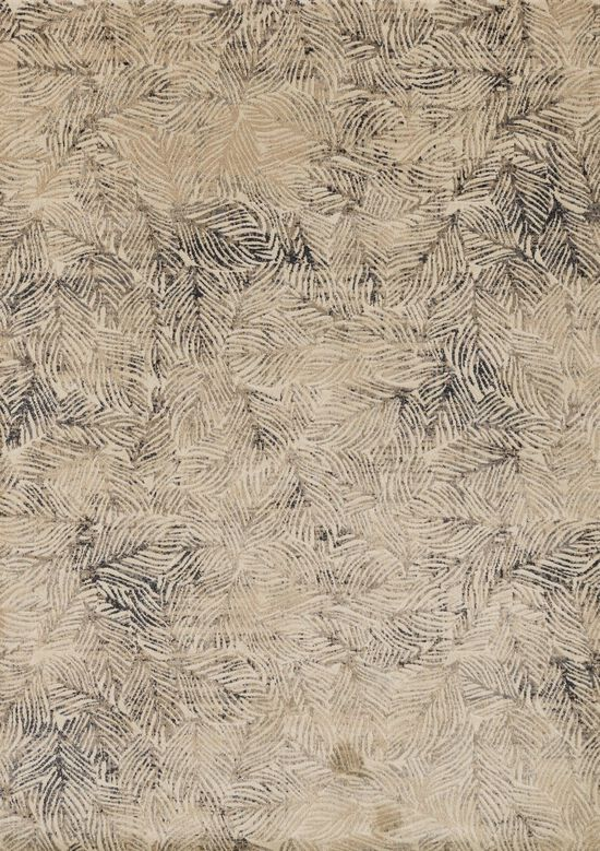 """Contemporary 1'-11""""x3' Rectangle Rug in Charcoal/Beige"""